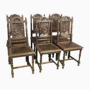 Chaises Bretonnes Antiques, Set de 6