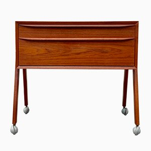 Vintage Danish Modern Teak Chest on Casters