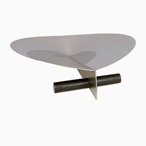 Centro de mesa de acero espejado y metal de Gianfranco Grignani para Luci, años 70