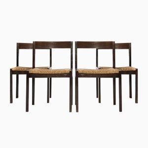 Chaises de Salle à Manger en Wengé par Martin Visser pour 't Spectrum, 1960s, Set de 4