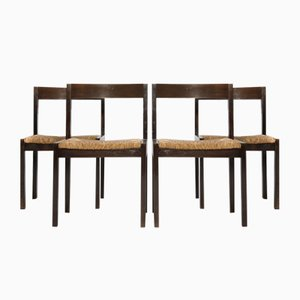 Wenge Dining Chairs by Martin Visser for 't Spectrum, 1960s, Set of 4