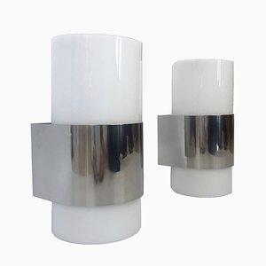 Lámparas de pared de metacrilato de Metalarte, años 80. Juego de 2