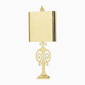 Lampada da tavolo neoclassica in ottone di Maison Charles, anni '70