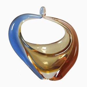 Jarrón de cristal de Bohemia de Hana Machovska para Mstisov Glassworks, años 50