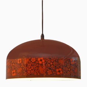 Lámpara colgante esmaltada de Kaj Franck para Louis Poulsen, años 70