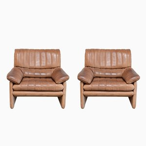 Vintage DS-86 Leather Armchairs from de Sede, Set of 2