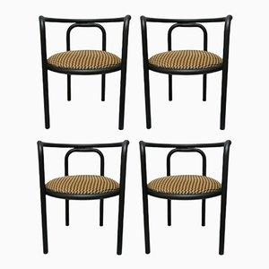 Vintage Solus Locus Esszimmerstühle von Gae Aulenti für Poltronova, 4er Set