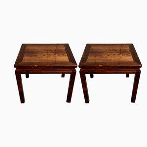 Tables d'Appoint en Palissandre de Lysberg Hansen & Therp, 1960s, Set de 2