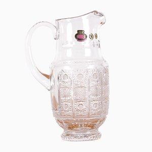 Brocca vintage in cristallo di Boemia