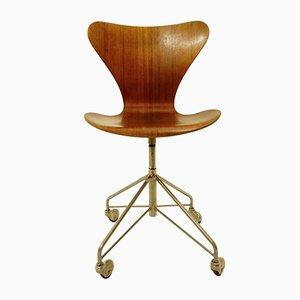 Sedia da scrivania nr. 3117 di Arne Jacobsen per Fritz Hansen, 1955
