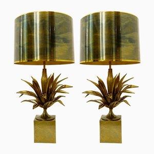 Lampes de Bureau en Bronze et Laiton par Maison Charles, Set de 2