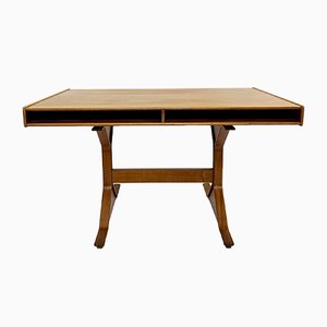 Walnut Writing Desk by Gianfranco Frattini for Bernini