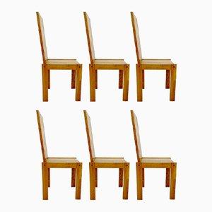 Vintage Holzstühle, 6er Set