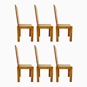 Vintage Wooden Chairs, Set of 6