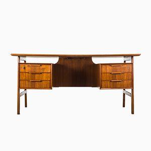 Vintage Model 75 Teak Desk from Omann Jun
