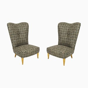 Italian Low Chairs, 1940s, Set of 2