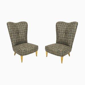 Niedrige italienische Sessel, 1940er, 2er Set