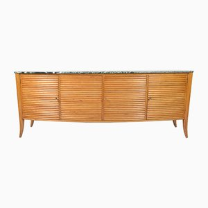 Mid-Century Italian Rounded Sideboard with Marble Top from Quarti