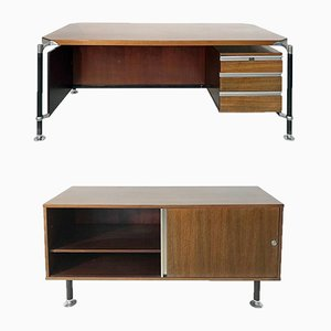 Desk & Sideboard by Ico Parisi for M.I.M Roma, 1960s