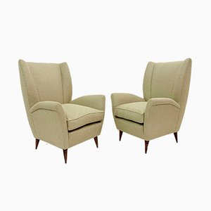 Vintage Italian Model 512 Armchairs by Gio Ponti, Set of 2