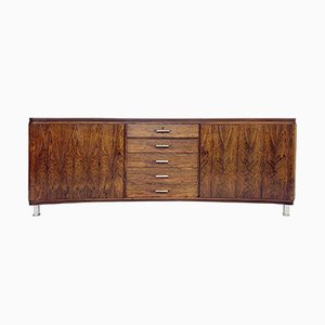 Curved Rosewood Sideboard, 1970s