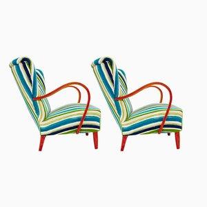 Italienische Sessel, 1950er, 2er Set