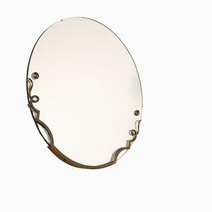 Espejo francés redondo, años 40