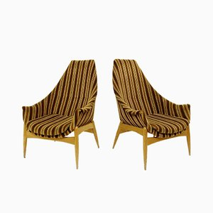 Hungarian Armchairs by Julia Gaubeck, 1970s, Set of 2