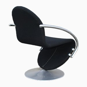 System 123 Lounge Chairs by Verner Panton for Fritz Hansen, 1973, Set of 3