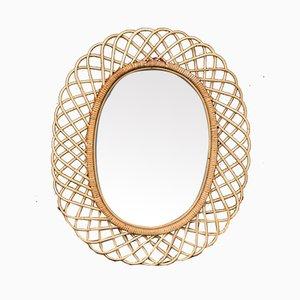 Mid-Century Spiegel mit Rahmen aus Bambus von Pierantonio Bonacina, 1960er