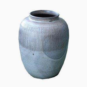 Vintage Ceramic Bauhaus-Style Vase by Fritz Haussmann