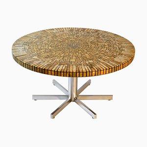 Round Onyx Array Mosaic Coffee Table on Chrome Legs, 1960s