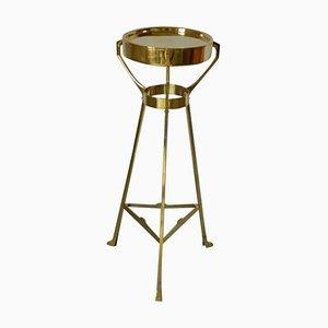 Antique Art Nouveau Austrian Brass Pedestal