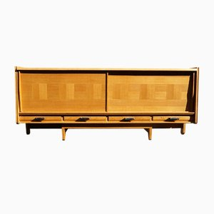 Gilded Oak Sideboard by Guillerme et Chambron for Votre Maison