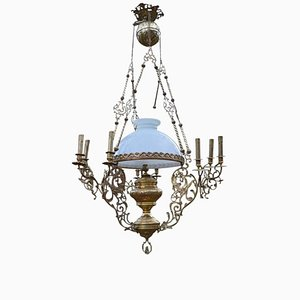 Antique Bronze and Brass Chandelier with Dragons & Chimeras