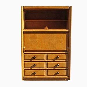 Vintage Sekretär aus Eiche von Guillerme et Chambron für Votre Maison
