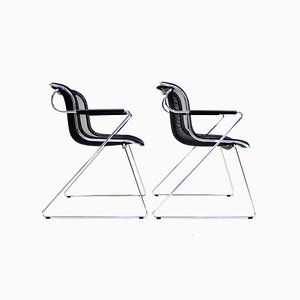 Penelope Chairs by Charles Pollock for Castelli, 1980s, Set of 2