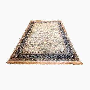 Großer handgefertigter Vintage Teppich aus Wolle & Seide