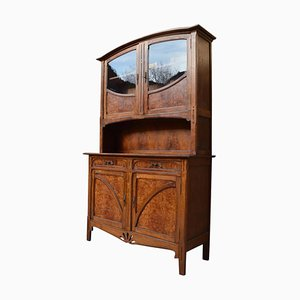 Art Nouveau French Oak and Elm Burl Buffet, 1910s