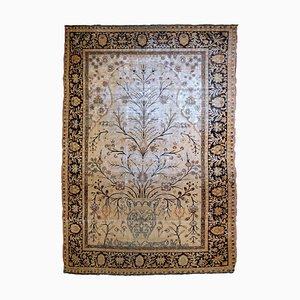 Alfombra Indo-Moktasham india vintage, década de 1880
