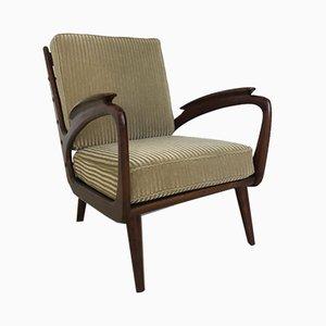 Skandinavischer Sessel in Braun & Grün, 1960er