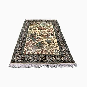 Vintage Handmade Wool & Silk Carpet