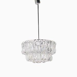 Lámpara de araña brutalista con cuentas de cristal