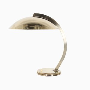 Vintage Bauhaus Style Solid Brass Desk Lamp from Hillebrand Lighting