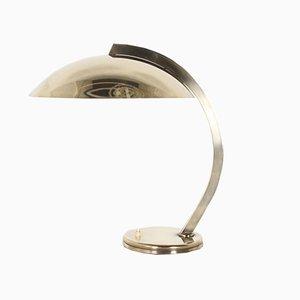 Vintage Schreibtischlampe aus massivem Messing im Bauhaus-Stil
