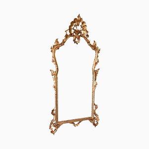 Spiegel mit Rahmen aus geschnitztem Holz, 1950er