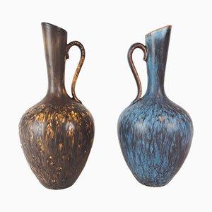 Jarrones suecos de cerámica de Gunnar Nylund para Rörstrand. Juego de 2