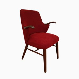 Danish Stained Beech Armchair, 1950s
