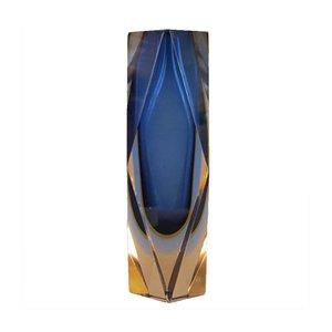 Italienische Sommerso Vase aus Muranoglas, 1950er