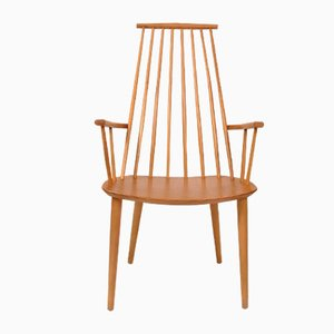J110 Beech Chair by Poul Volther for FDB, 1960s